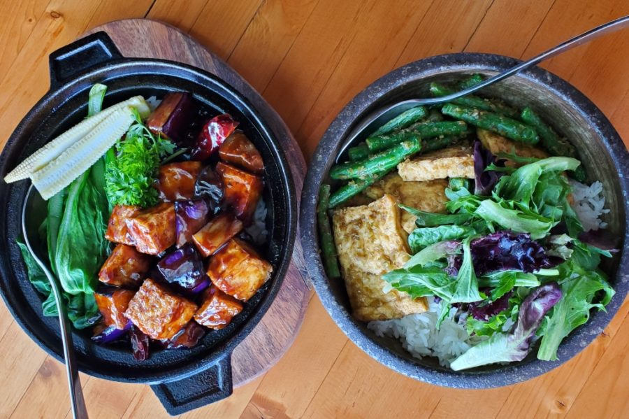 A delicious vegetarian vegan plantbased dish at Do Chay restaurant on Kingsway in Vancouver, BC, by EcoLuxLuv Communications for FolioYVR Luxury Lifestyle Magazine by Helen Siwak