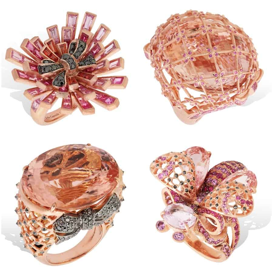 Parisian Jeweler Lydia Courteille releases La Vie en Rose Collection of pink diamonds. Story on EcoLuxLuv by Jim Tobler.