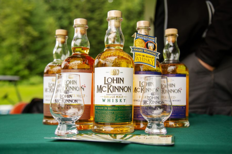Lord McKinnon Whiskey display the Whiskey Wisemen Charity Tournament at Westwood Plateau Golf Club