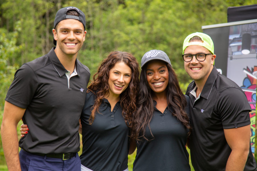 Lesley Brown and guests the Whiskey Wisemen Charity Tournament at Westwood Plateau Golf Club