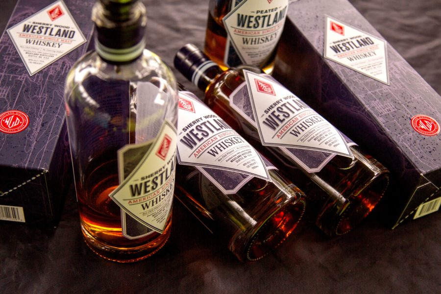 Whiskey bottles at the Whiskey Wisemen Charity Tournament at Westwood Plateau Golf Club