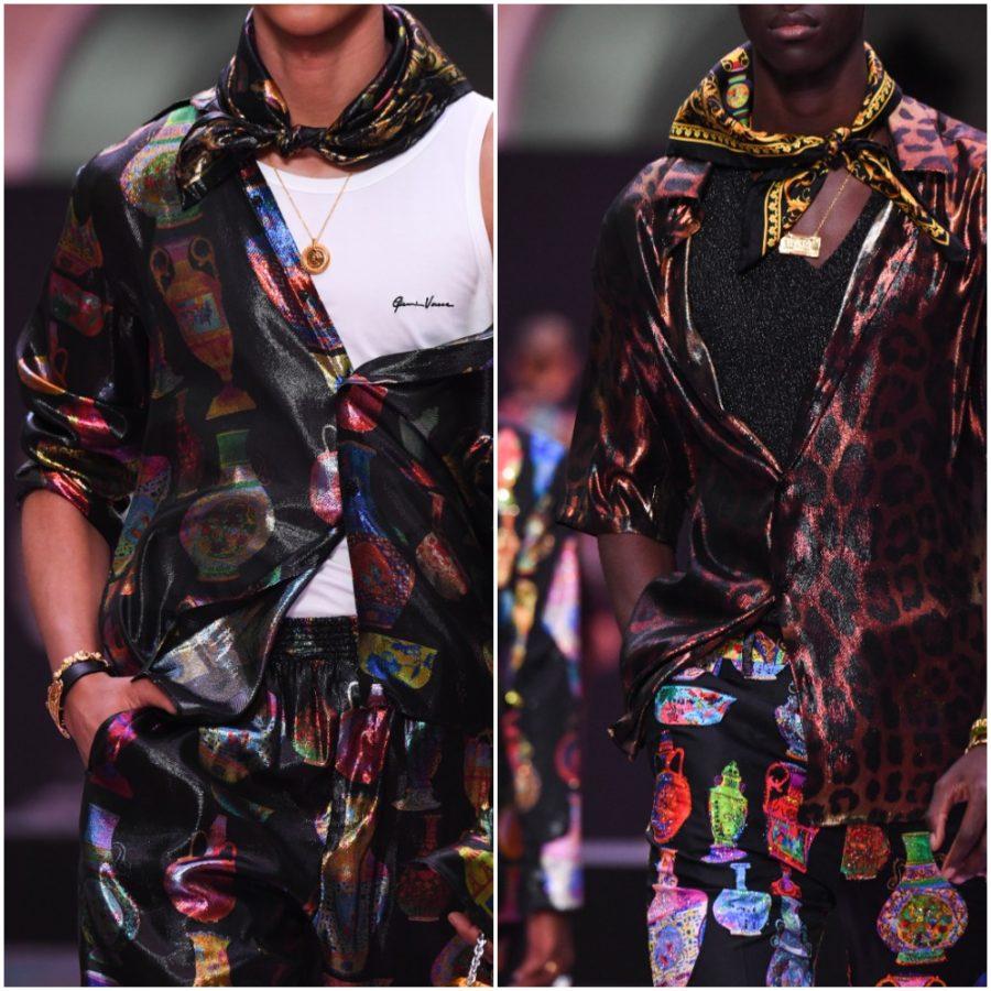 Andy Dixon, Versace, Runway, Fashion Week, Helen Siwak, EcoLuxLux, FolioYVR, Roman Motif on Fabric