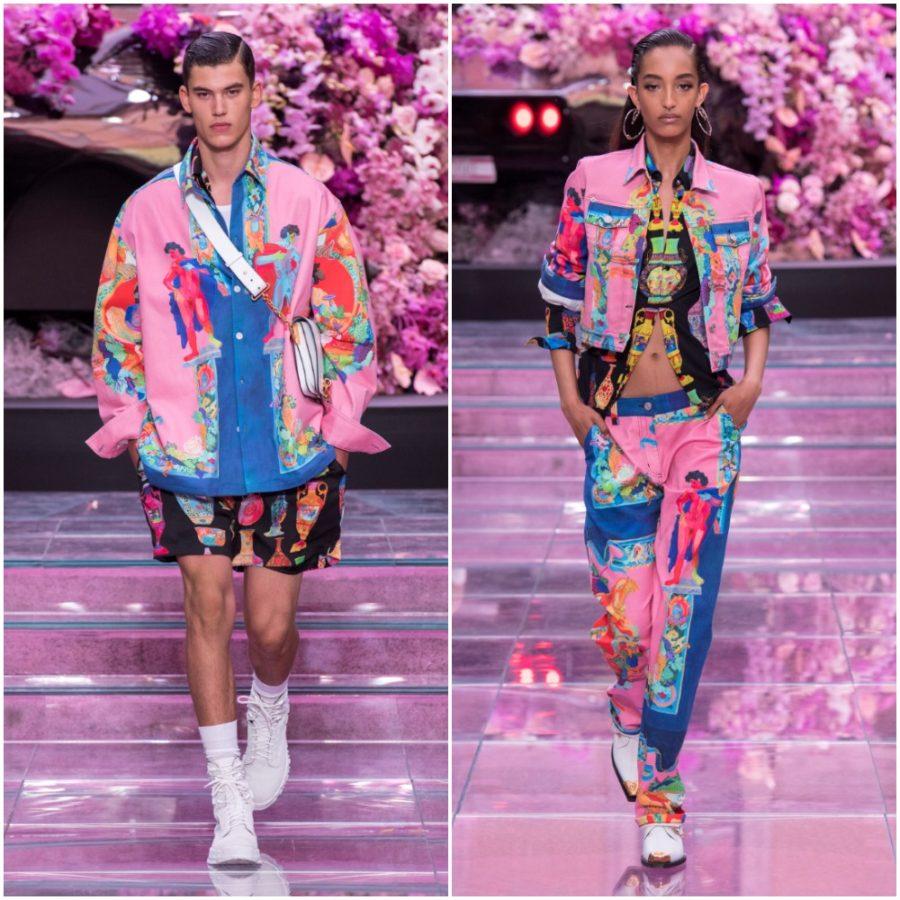 Andy Dixon, Versace, Runway, Fashion Week, Helen Siwak, EcoLuxLux, FolioYVR, Pink Denim by Versace