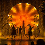 hulahoops in front of orange ball luzia