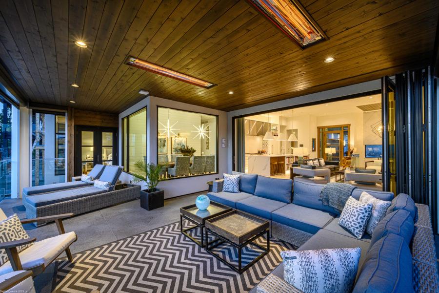 patio with chevron carpet lefebvre