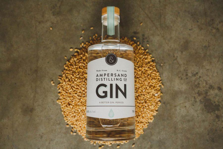 bottle of ampersand gin