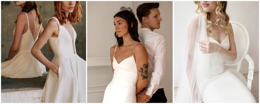 A collage of Aesling bridal from Truvelle LoveNote - EcoLuxLifestyle - Vancouver, BC, Vancity, YVR