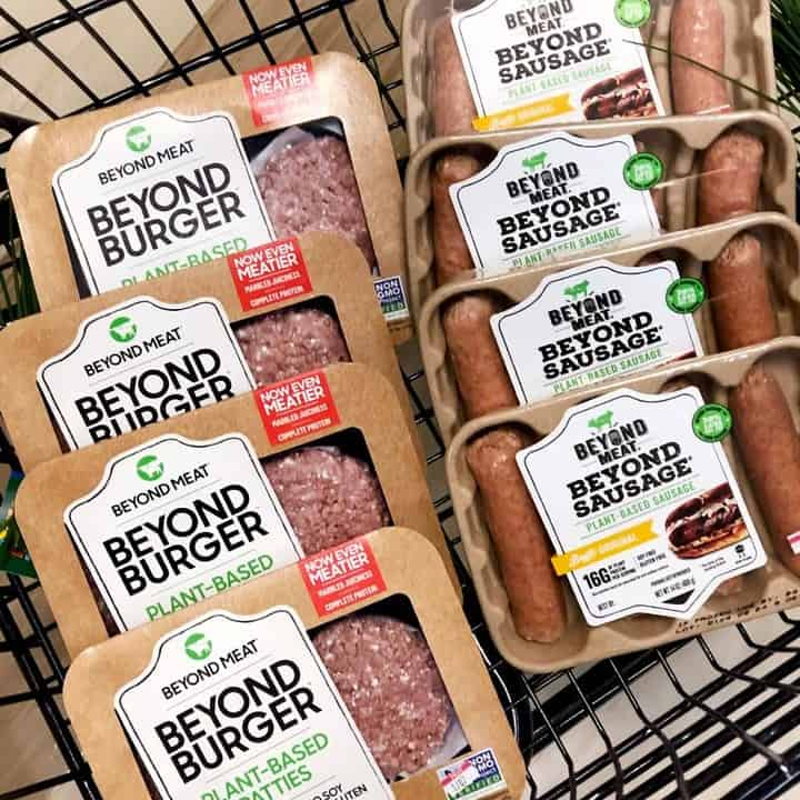 beyond burger by beyond meats of plantbased offerings