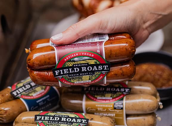 field roast sausages are excellent plantbased options