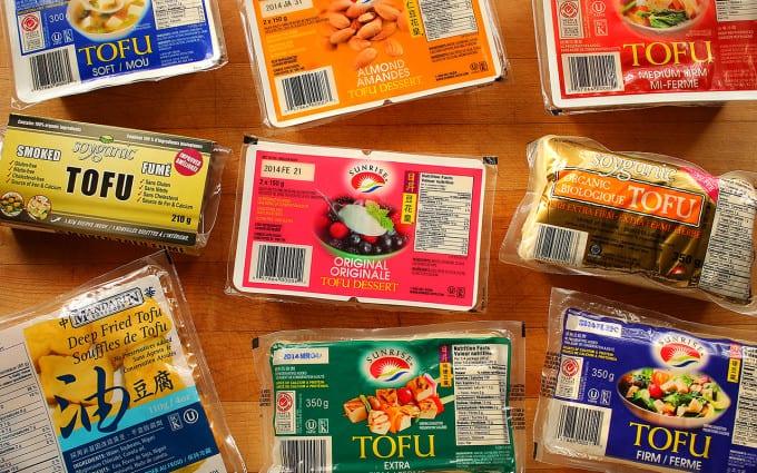 Selection of tofu plantbased by sunrise markets