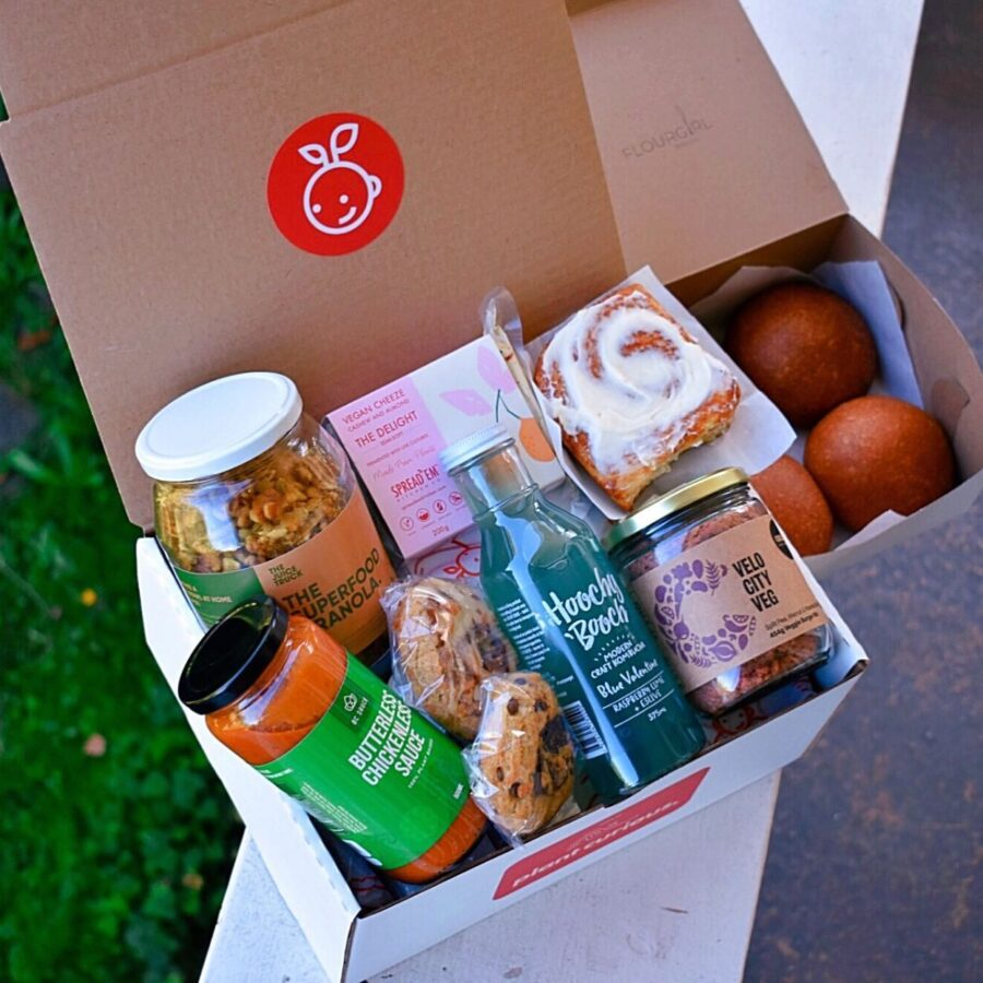 tmrw foods, plant curious, clean crate, subscription boxes, vegan, plantbased, helen siwak, inhellsbelly, vancouver, bc, shop local