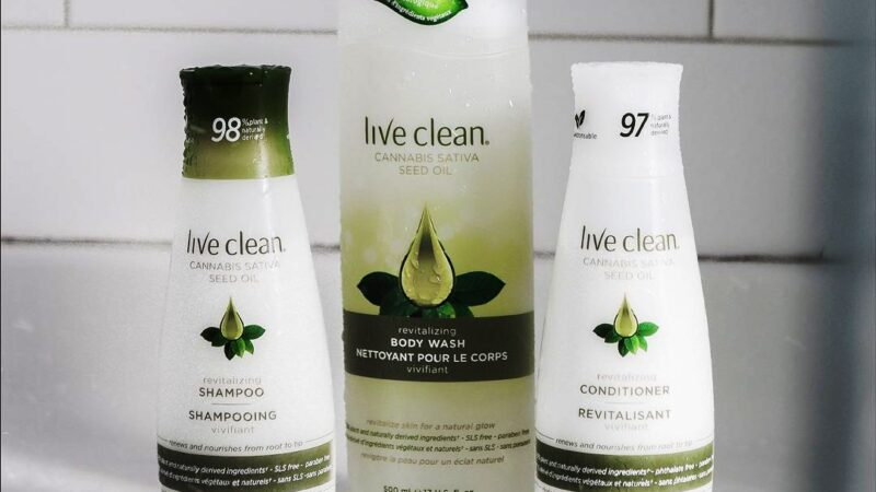 Live Clean Launches Cannabis Sativa Seed Oil Trio of Haircare Products
